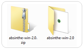 Unzip the file. Zip Absinthe