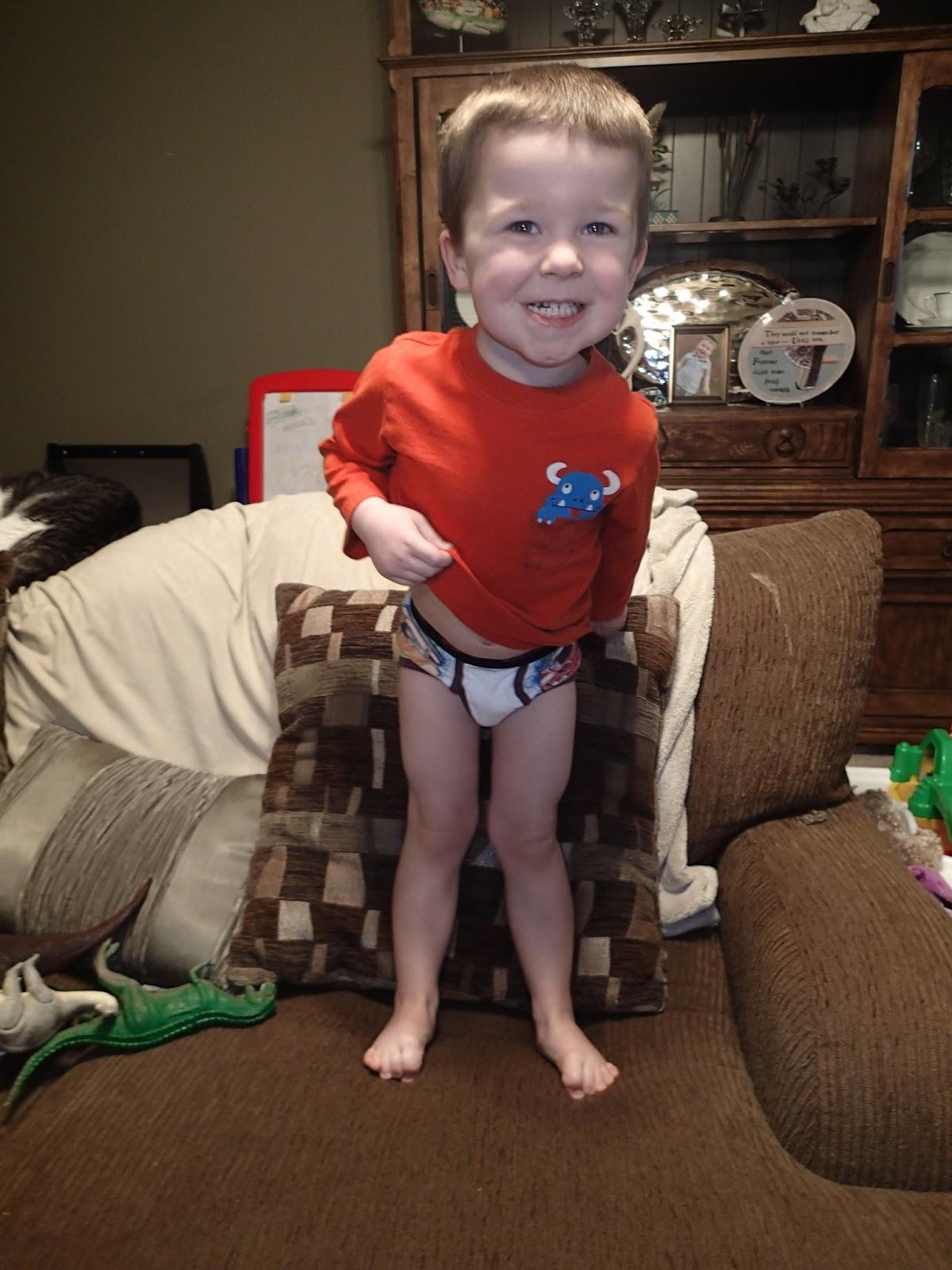 Toddler boy peeing everywhere