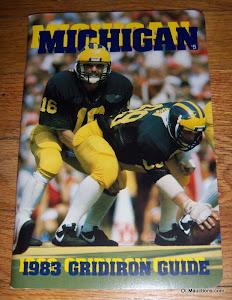 1983 University Of Michigan Gridiron Guide