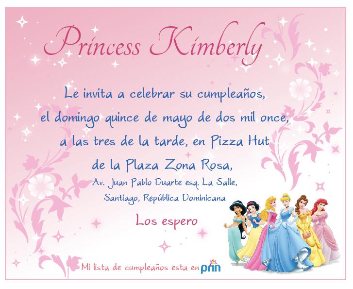 INVITACIONES DE LAS PRINCESAS PARA PRESENTACION - Imagui