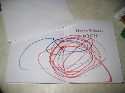 photo of birthday card decorated by Joy