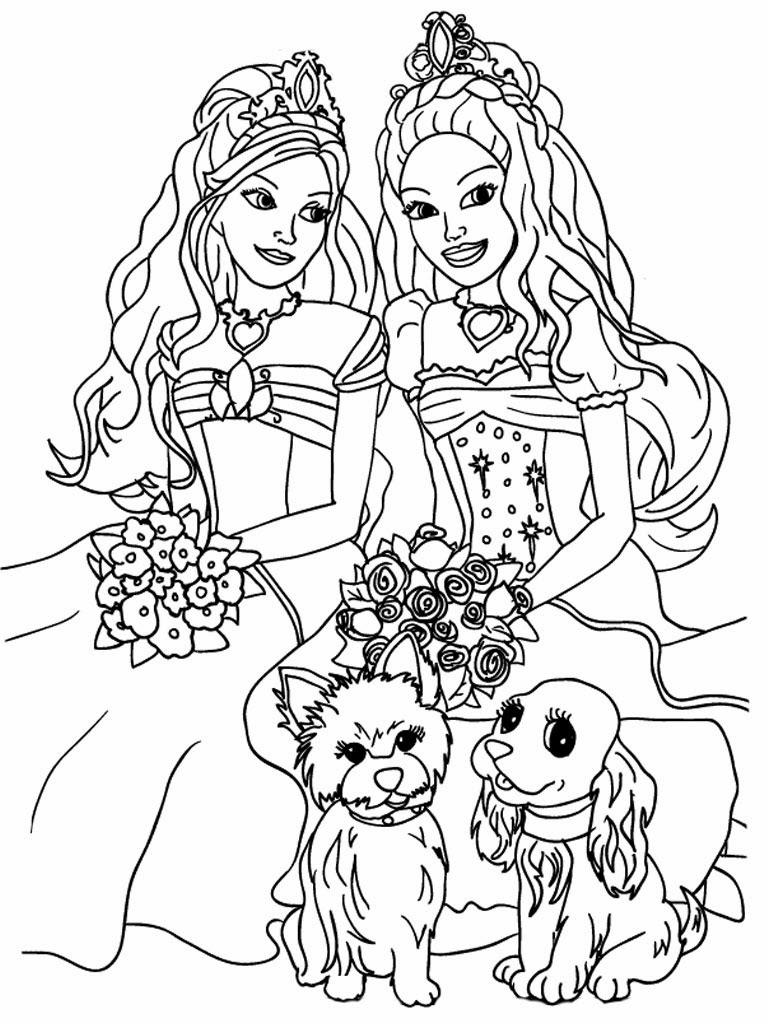 imagens para colorir e imprimir da barbie - Desenho de uma Barbie sereia para colorir Hello Kids