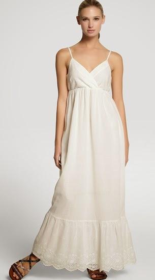 vestido largo blanco Vero Moda El Corte Inglés verano