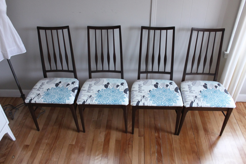 blue lamb furnishings : Set of 4 Keller Dining Chairs - SOLD