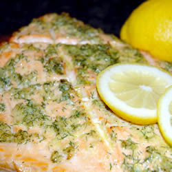 ... And Spices - Cedar Plank Grilled Salmon With Garlic Lemon And Dill
