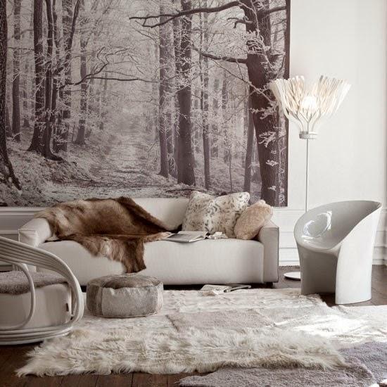 Moim Mieszkaniu Zimowa Fototapeta We Wn Trzu Winter Murals Inside