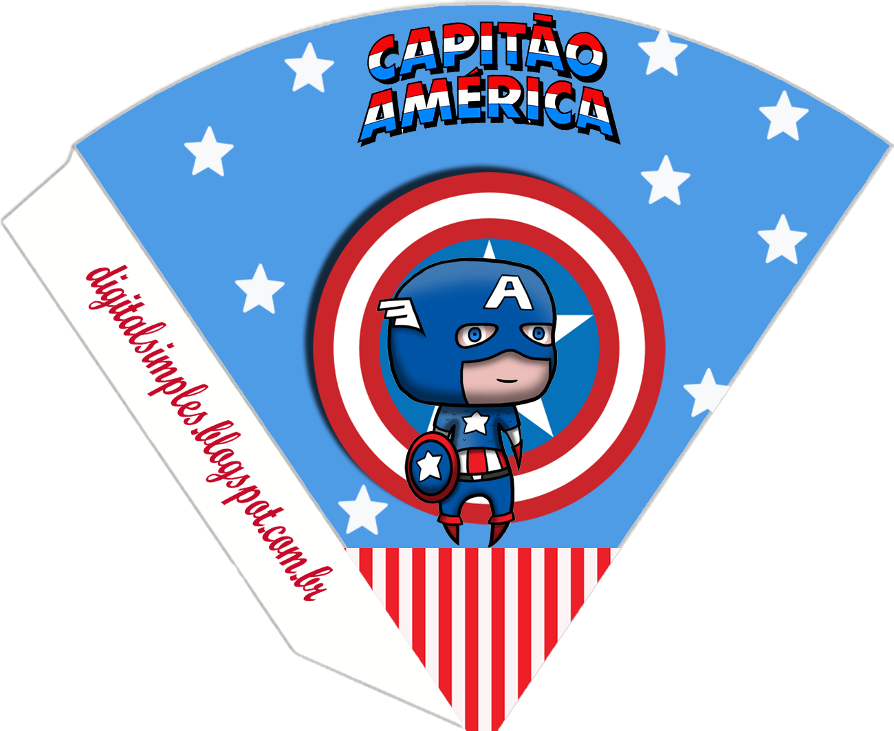 Captain America Baby: Free Printable Kit. - Oh My Fiesta