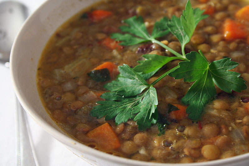 Sift, Dust & Toss: Surprisingly Un-Stoic Organic Lentil Soup