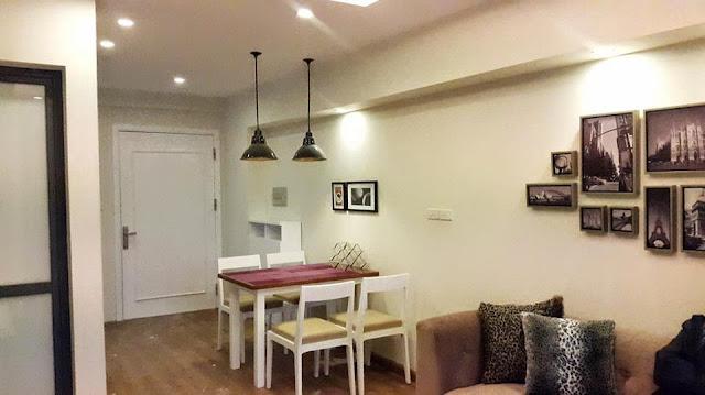 Thiết kế bàn ăn chung  cư ct3 tây nam linh đàm