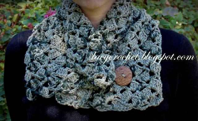 Lacy Crochet Llama And Silk Crochet Cowl Free Pattern