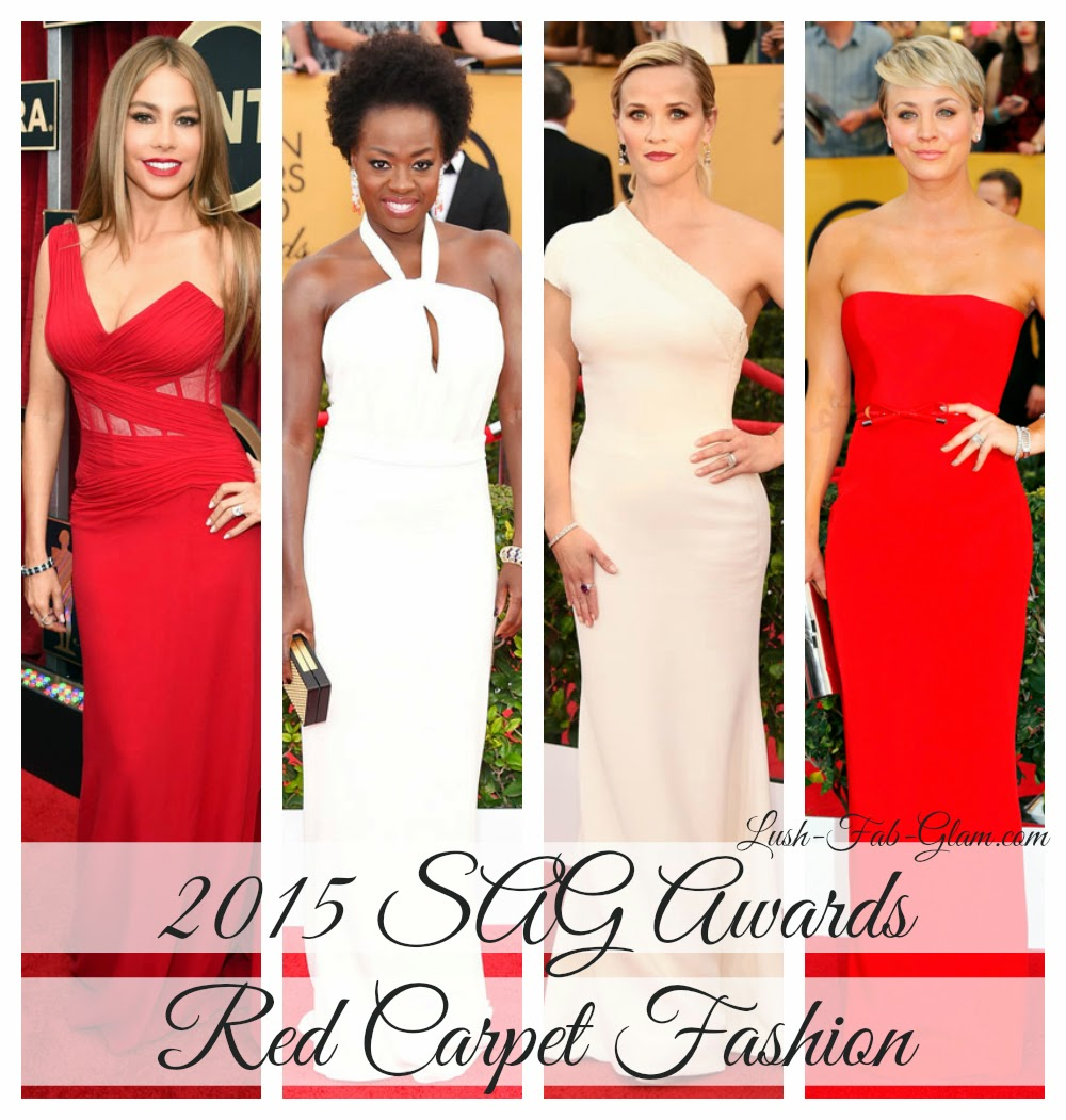 Best Dressed Celebrities & More Fabulous Red Carpet Fashion At The 2015 SAG Awards.
