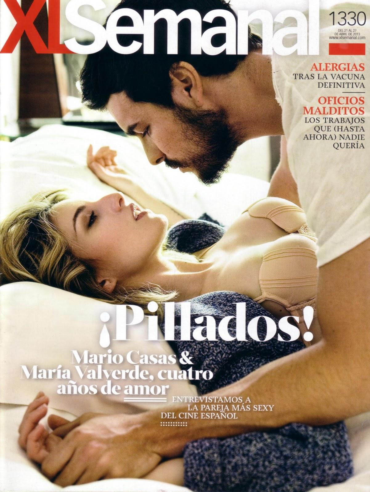 Mario Casas: Mario Casas y María Valverde en XLSemanal