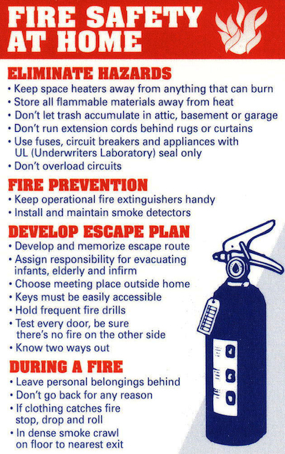 All seasons llc tenant blog april 2013 for House fire safety tips