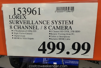 Deal for the Lorex LHV828 1080p Surveillance System at Costco