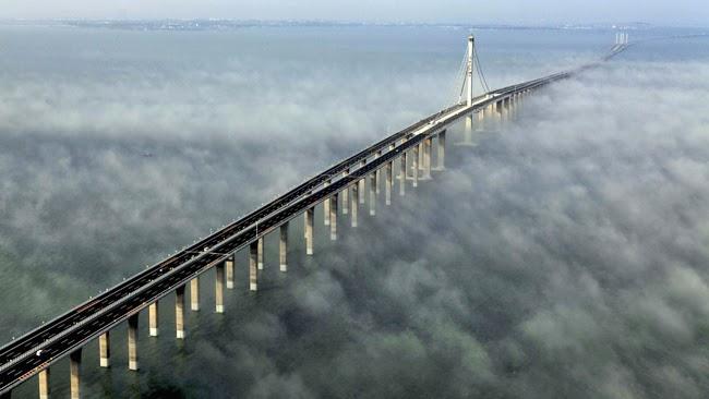 جسر هايوان كوينغداو : أطول جسر بحري في العالم