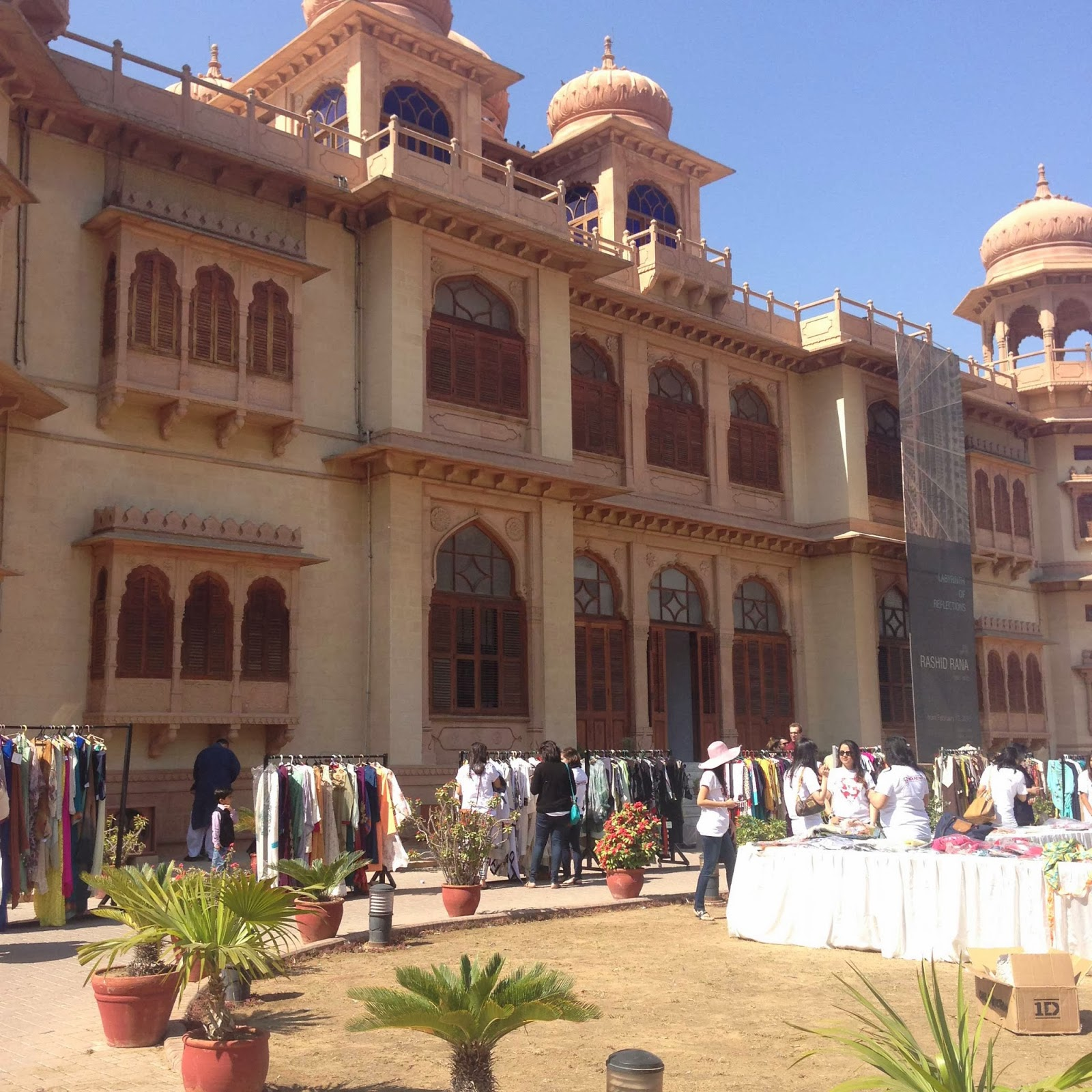 Mohatta Palace - Pakistani fashion charity trunk show for the Sindh Festival
