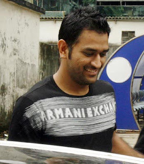 Dhoni in black