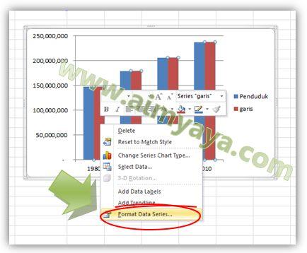 Gambar: Mengatur format series di chart excel
