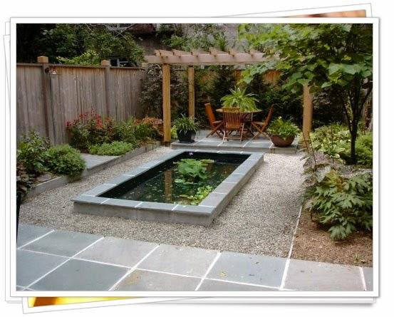 model taman kolam rumah minimalis