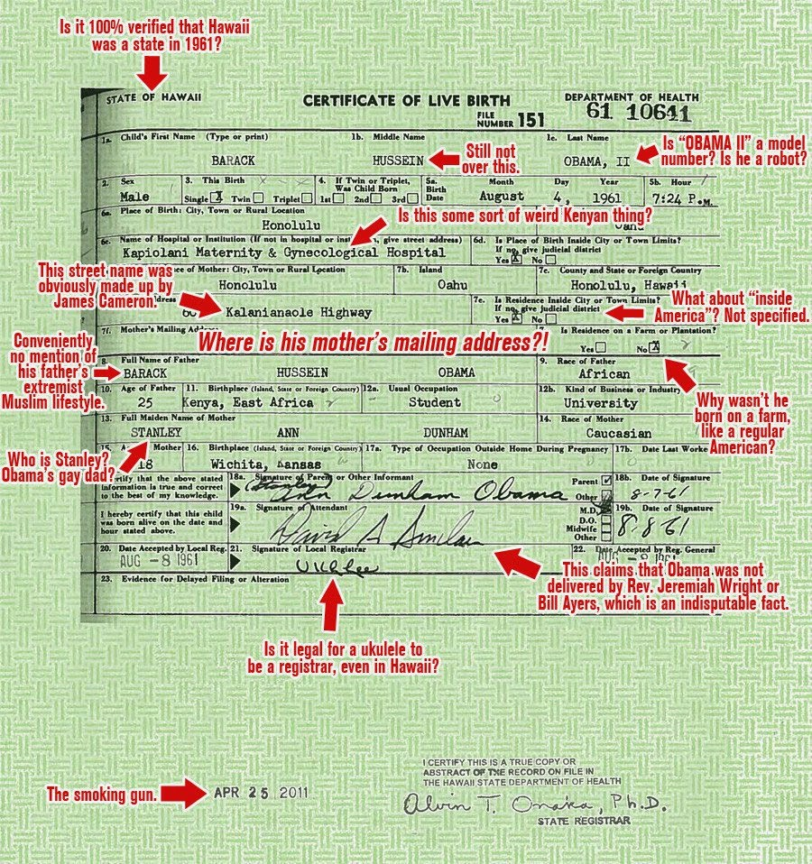 Nanas Rants On Subjects From A Z Obama Reveals Birth Certificate