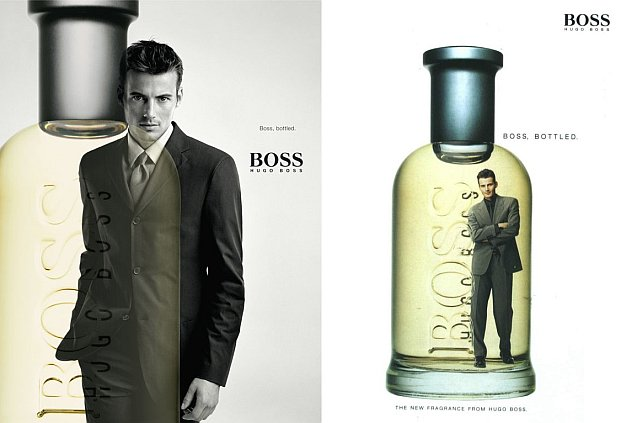 Pierwsze reklamy Hugo Boss Boss Bottled.
