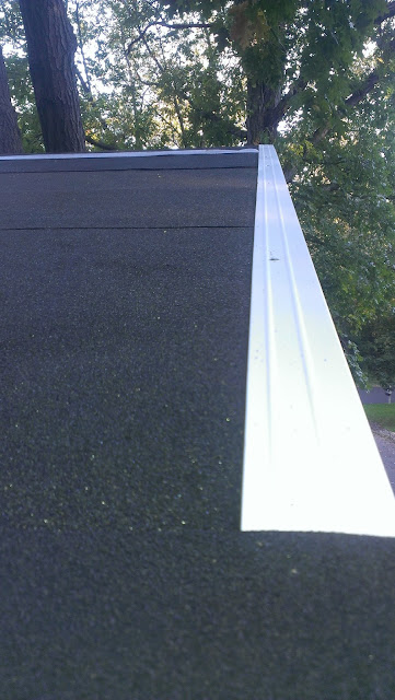 Ice and Water underlayment with drip edge.