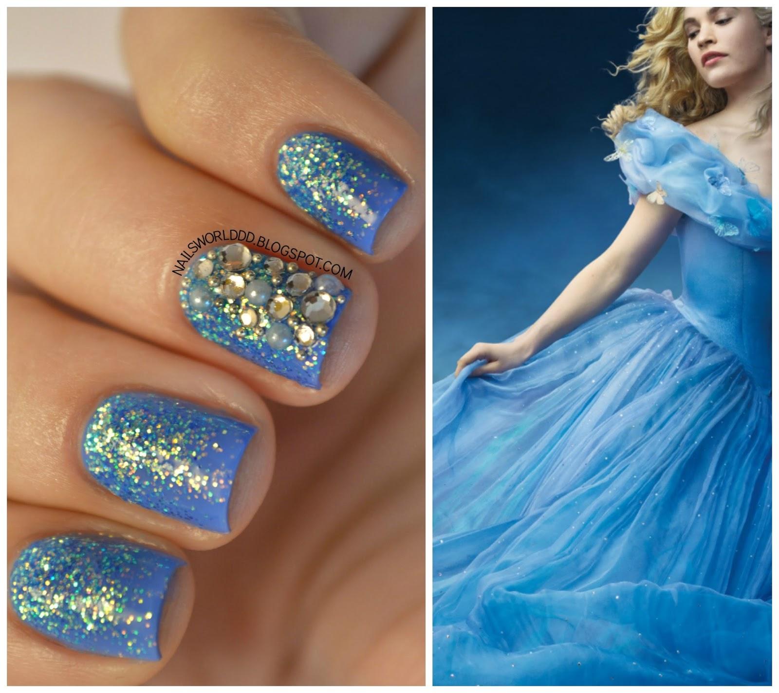 Cinderella Inspired Nail Art