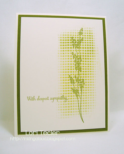 Stenciled Sympathy-designed by Lori Tecler/Inking Aloud-stamps from Papertrey Ink