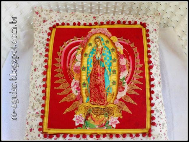 almofada patchwork - nossa senhora - RoAguiar