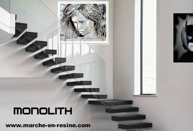 les escalier suspendu monolith en b ton cir floating. Black Bedroom Furniture Sets. Home Design Ideas