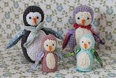 hæklede pingviner