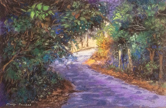 SOLD work. Soft pastel landscape of Coorg by Manju Panchal