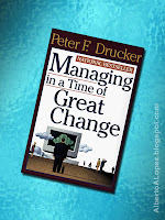 "Beauty shot picture of book by Peter Drucker, ""Managing in a Time of Great Change"""