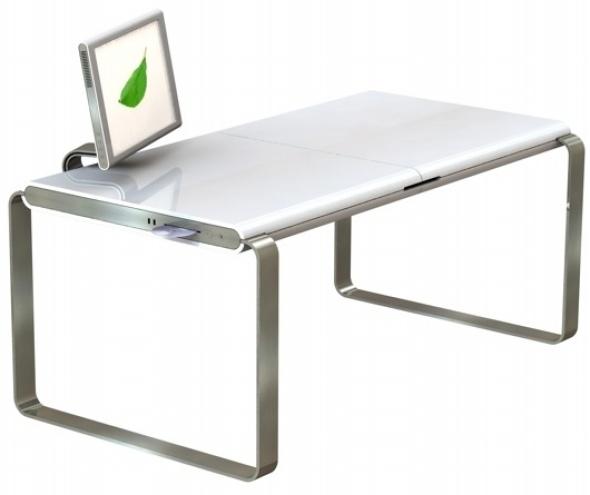 Modernos escritorios minimalistas para espacios reducidos for Mesas ordenador para espacios pequenos