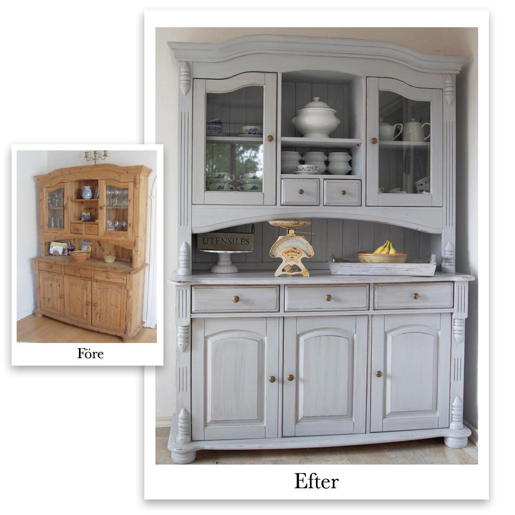 Lavendeldockor: Före och efter...mÃ¥la om möbler med olika tekniker : måla vitt : Inredning