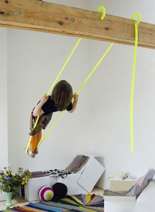 modern swing for indoor play