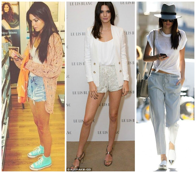 Looks despojados da Kendall.