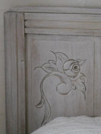 Lit patin blanc relook cours peinture d corative meubles peints patin s - Peinture effet ceruse ...