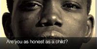 Picture of a young African American boy with the question Are you as honest as a child?