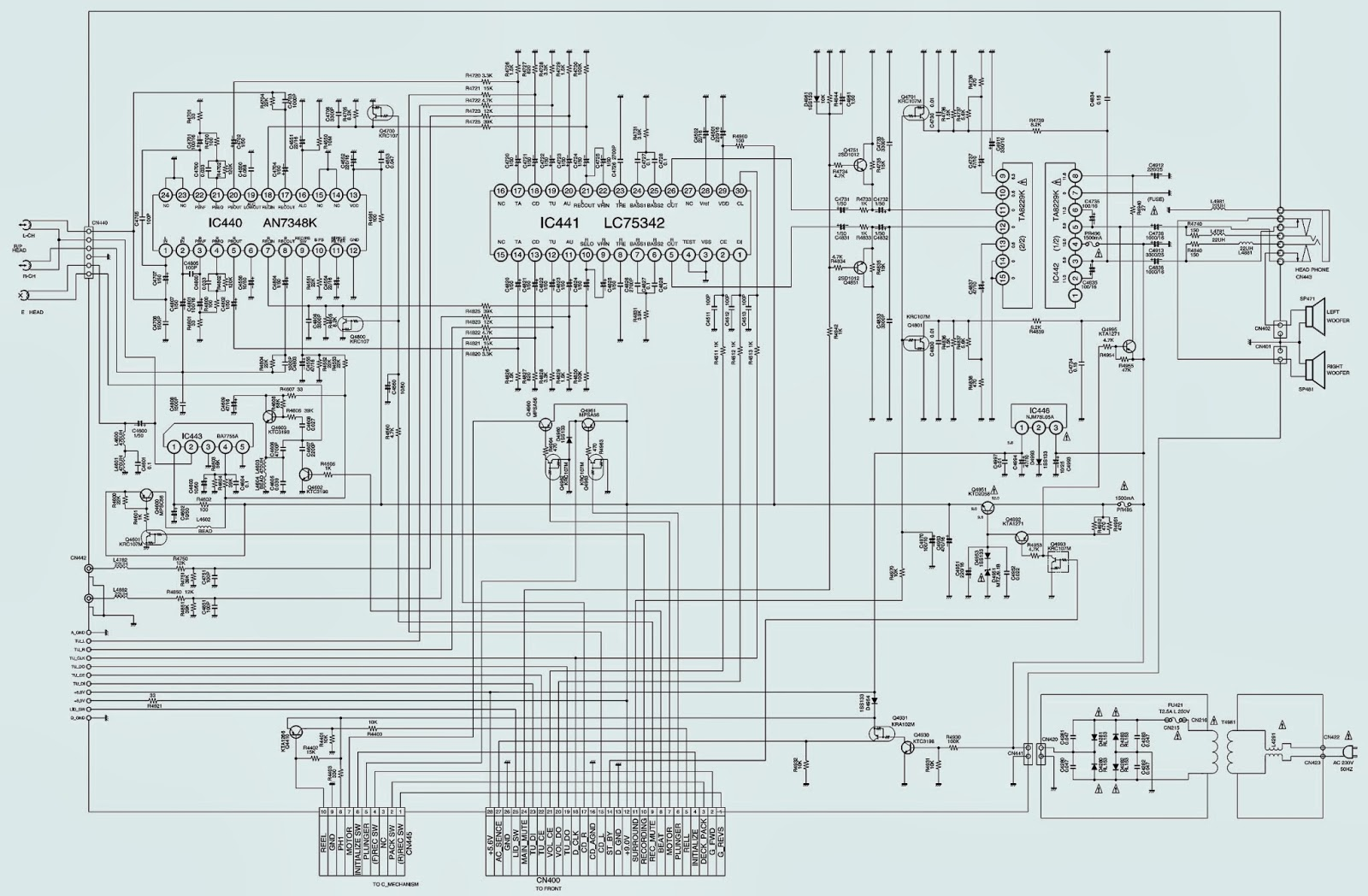 sanyo dc-da2000 - schematic  circuit diagram