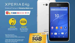 Sony Xperia E4g Cashback + Earphone SONY MH1a