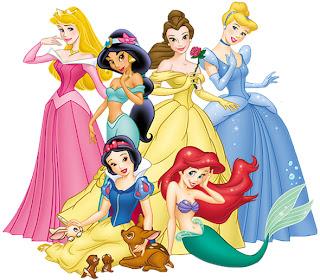 Ariel , jasmine,Cenicienta, blancanieves, bella y aurora