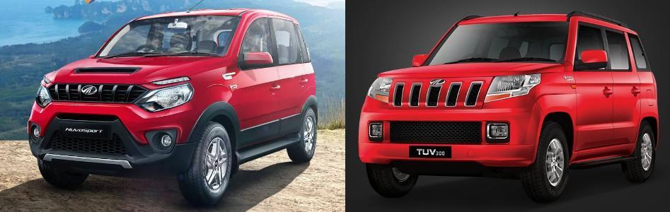 Mahindra NuvoSport vs TUV300 Comparison