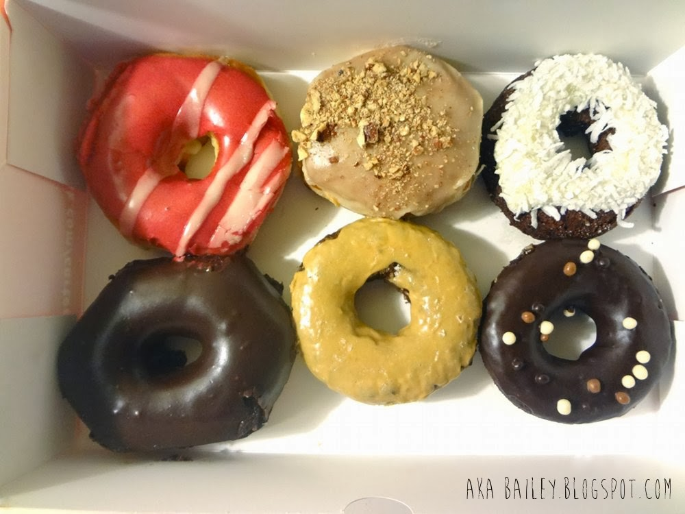 Mixed half dozen donuts from Cartems Donuterie
