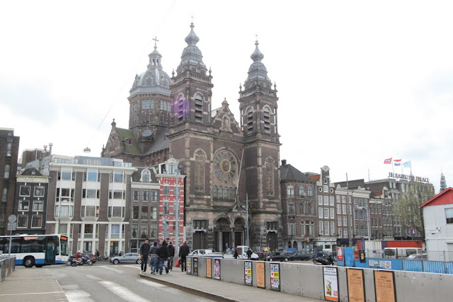 A church nearby Amsterdam Centraal Station in Amsterdam, Netherlands