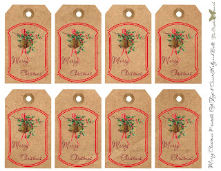 christmas digital gift tag sheet