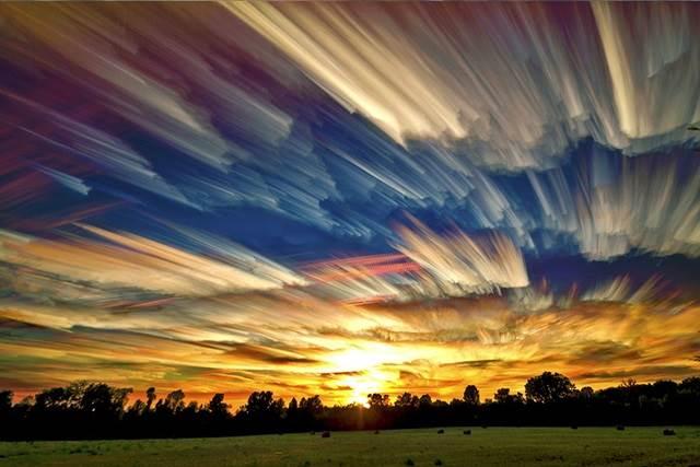 gambar langit senja di padang