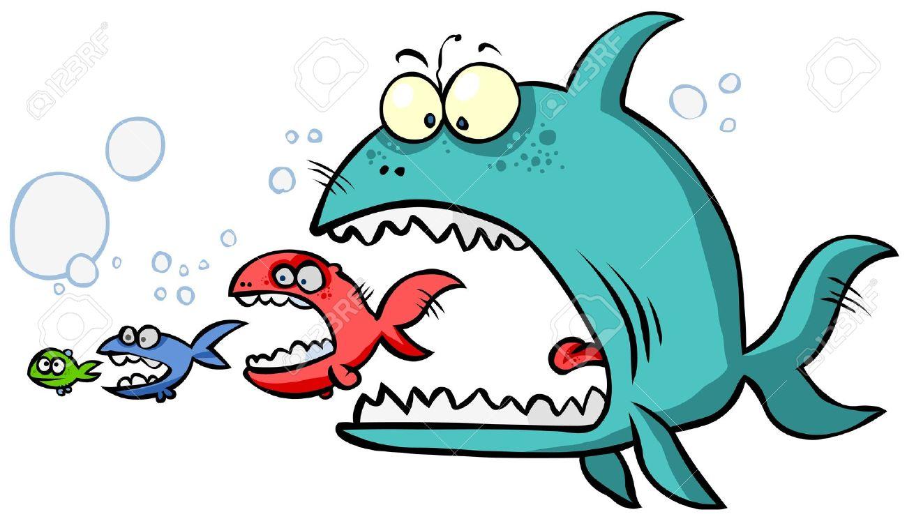 9393239-Cartoon-Big-fish-eating-up-the-s