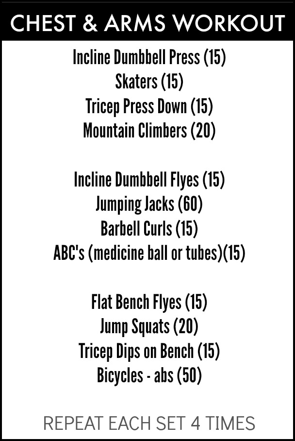 Bikini Prep - Chest and Arm Workout