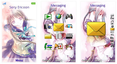 文學少女SonyEricsson手機主題for Aino﹝240x432﹞